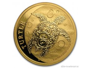 Investiční zlatá mince Želva mořská 2016-Nový Zéland 1 Oz