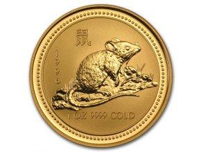 Investiční zlatá mince rok krysy 1996 1 Oz