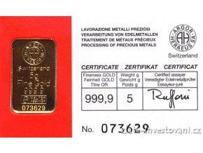 2660 investicni zlata cihla argor heraeus 5g