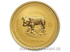 2699 investicni zlata mince rok vepre 2007 1 oz