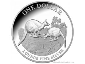 Investiční stříbrná mince australský klokan-různé ročníky 1 Oz