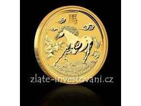 Investiční zlatá mince rok koně 2014 1/20 Oz