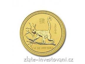 Investiční zlatá mince rok opice 2004 1/10 Oz