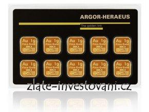 Investiční zlatý slitek  Multicard-Argor Heraeus 10g