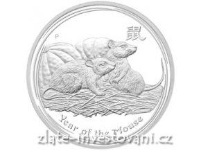 Investiční stříbrná mince rok Myši 2008-1kg