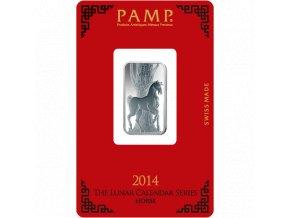 Investiční stříbrný slitek PAMP rok koně 2014 1 Oz