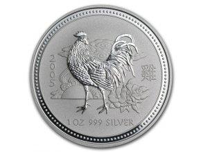 Investični stříbrná mince rok kohouta 2005 1 oz