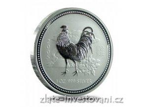 2900 investicni stribrna mince rok kohouta 2005 1 oz