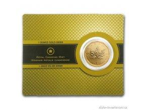 2909 investicni zlata mince kanadsky maple leaf 2009 1 oz