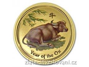2915 investicni zlata mince rok buvola 2009 kolorovana verze 1 oz