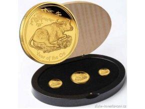 2930 set tri minci rok buvola 2009 lunarni serie proof