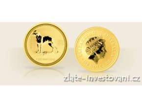 3044 investicni zlata mince rok psa 2006 lunarni serie 1 1 10 oz