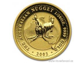 3050 investicni zlata mince australsky nugget 2002 1 20 oz