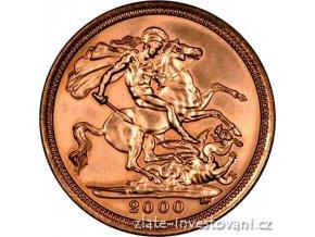 Investiční zlatá mince britský půl Sovereign