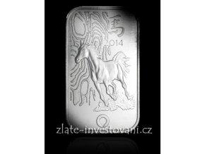 Investiční stříbrný slitek rok koně-mincovna Rand SA 1 Oz