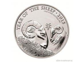 3125 stribrna mince lunarniho kalendare rok ovce uk 1 oz