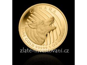 3143 investicni zlata mince vlk 2014 serie volani divociny 1 oz