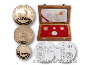 3167 investicni zlaty set krugerrand frakce proof