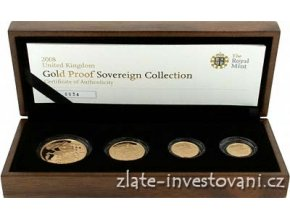 3170 zlaty investicni set minci sovereign proof 4 mince