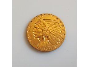 3188 zlata mince americky half eagle indiansky nacelnik 5 dolaru 1916