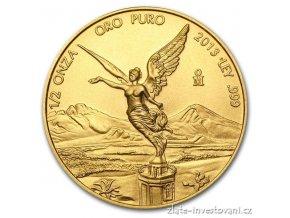 3239 investicni zlata mince libertad mexiko 1 2 oz