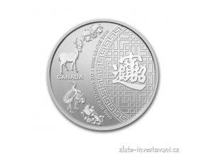 3245 investicni stribrna mince patero pozehnani kanada 1 oz