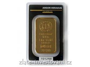 3269 investicni zlata cihla argor heraeus 100g