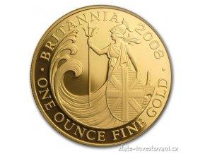 Investiční zlatá mince Britannia-2008 1 Oz