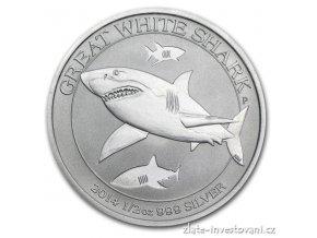 3329 investicni stribrna mince zralok bily 1 2 oz