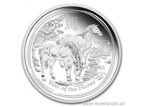 3347 stribrna mince rok kone 2014 1 2 oz