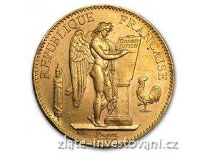 3353 zlata mince francouzsky 100 frank andel genius 1913