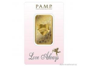 Investiční zlatý slitek Love Always-PAMP