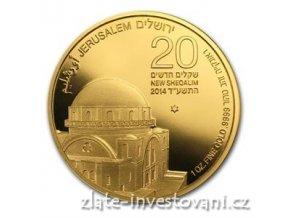 3362 investicni zlata mince synagoga hurva 2014