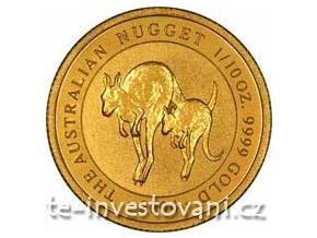 3368 investicni zlata mince australsky nugget 2004