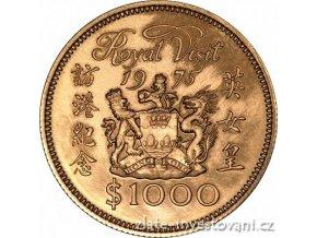 3485 zlata mince navsteva kralovny 1975 honkong