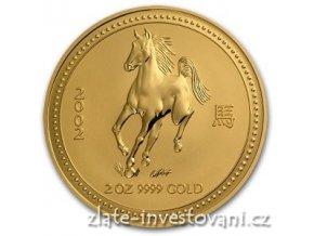 3497 investicni zlata mince rok kone 2002 2 oz