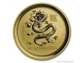 Investiční zlatá mince rok draka 2000 1/4 Oz