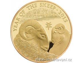 3542 investicni zlata mince rok kozy 2015 lunarni serie royal mint 1 oz