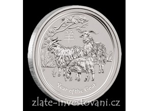 Investiční stříbrná mince rok Kozy 2015 1 Kg