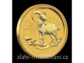 Investiční zlatá mince rok Kozy 2015 1 Kg