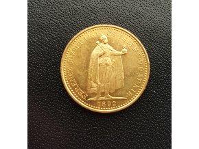 Zlatá mince Dvaceti koruna Františka Josefa I.uherská ražba 1892-KB Mint