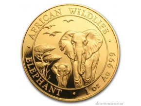 3614 investicni zlata mince somalsky slon 2015 1 oz
