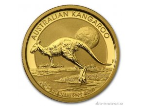 3629 investicni zlata mince australsky klokan nugget 2015 1 4 oz