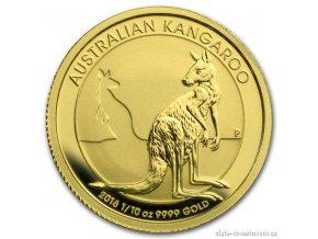 3632 investicni zlata mince australsky klokan nugget 2016 1 10 oz