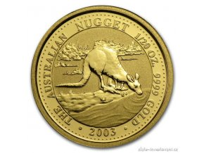 3647 investicni zlata mince australsky nugget 2003 1 20 oz