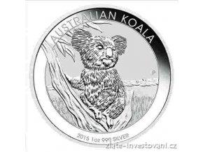 3719 investicni stribrna mince koala 2015 1 oz