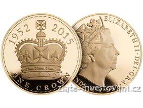 3746 zlata mince britska petilibra nejdele vladnouci panovnik 2015