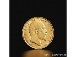 Zlaty britský sovereign Edward VII. 1902