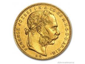 Zlatá mince Osmizlatník Františka Josefa I.-ročníkový