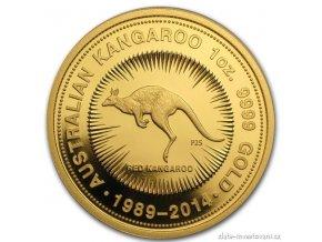 3791 investicni zlata mince australsky klokan nugget 2014 vyrocni edice 1 oz